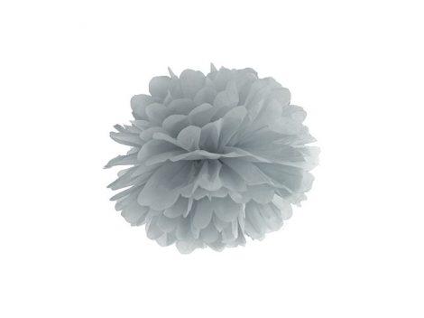 papír gömb / pom-pom (25 cm átmérő )ezüstszürke (091)