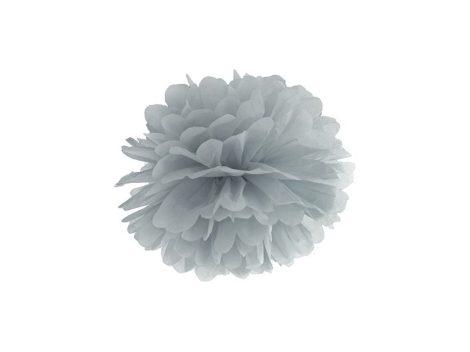 papír gömb / pom-pom (35 cm átmérő ) ezüstszürke