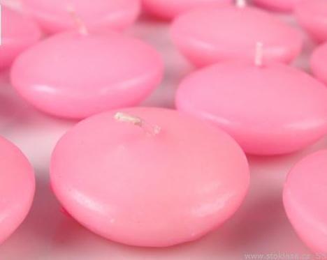 rózsaszín úszógyertya (6 órás)