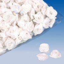 szatén rózsafej 1,2 cm, fehér (90 db)