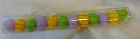 húsvéti tojás zöld-lila-sárga 4 cm (12 db)