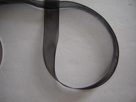 organza szalag 0,6 cm x 22,86 m,fekete