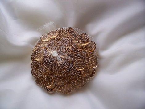 dekorkő, dekorkavics barack (kb.90 db)-2 cm
