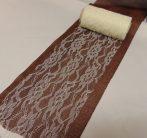 Csipke dekoranyag krém (10 cm * 9,3 m)