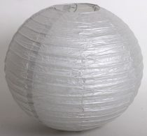 lampion gömb (30 cm) ezüst