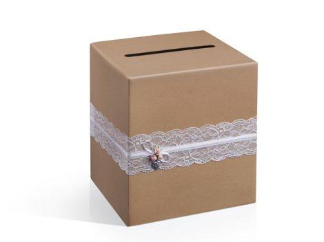 nászajándék gyűjtő doboz vintage (PUDTM2)