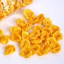 szatén rózsafej 3 cm-es (50 db) napsárga