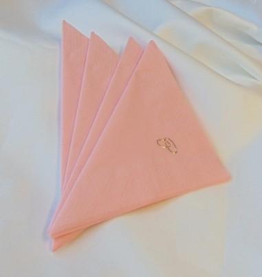 gyűrűs szalvéta rózsaszín (50 db/cs)