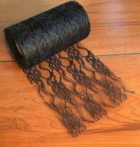 Csipke dekoranyag fekete (10 cm x 9,3 m)