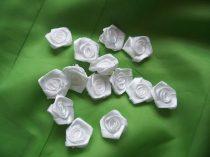 szatén rózsafej 2,5 cm-es (50 db) fehér