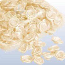 szatén rózsafej 2,5 cm-es (50 db) krém