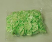 szatén rózsafej 1,2 cm, világoszöld (50 db)