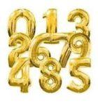 0. szám fólia lufi (35 cm), arany