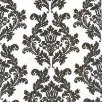 fehér alapon fekete mintás szalvéta (33x33), 3 rétegű, 20 db
