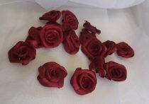 szatén rózsafej 2,5 cm-es (50 db) bordó