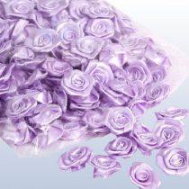 szatén rózsafej 2,5 cm-es (50 db) lila
