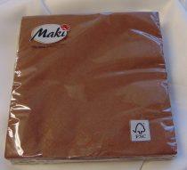 33*33 szalvéta, 3 rétegű (20 db/cs) csokibarna