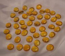 napsárga dekorkő,dekorkavics (kb.100 db-os), 2 cm
