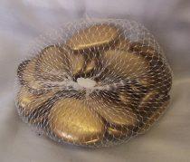 dekorkő,dekorkavics, 4 cm-s ( kb. 25 db) arany