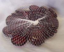 dekorkő,dekorkavics, 4 cm-s ( kb. 25 db) sötétpiros