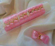 szatén szalvétagyűrű gyűrűpárral. rózsaszín 10db/cs