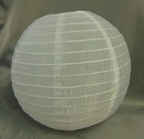 Organza lampion fehér (20 cm)