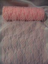 Csipke dekoranyag rózsaszín (50 cm * 4,5 m)