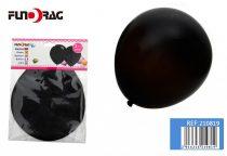 óriás gumi lufi fekete, 65 cm-s (2 db)