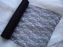 Csipke dekoranyag fekete (48 cm * 9,1 m)