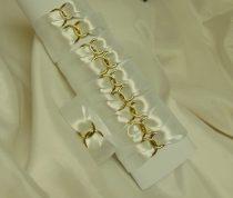 Szatén szalvétagyűrű gyűrűpárral, fehér 10db/cs