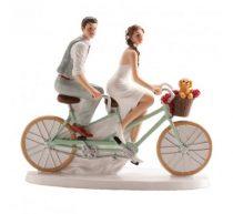 Ifjú pár tortadísz biciklis (16 cm)