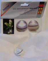 LED-es vízálló mécses fehér színben (12 db)