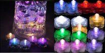 LED-es vízálló mécses színes (12 db)