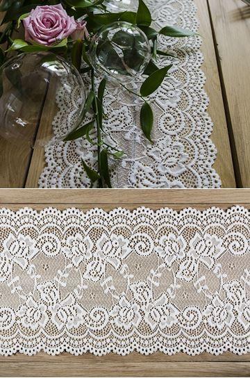 c70ebbff0c Csipke futó, ekrü, 0,15 x 9m - esküvő dekoráció, esküvői dekoráció ...