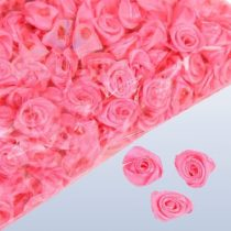 szatén rózsafej 1,2 cm, pinkrózsaszín (90 db)