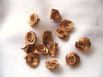 szatén rózsafej 2,5 cm-es (50 db) arany