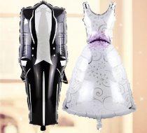 menyasszony és vőlegény óriás fólia lufi (esküvői pár)