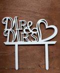 vintage esküvői tortadísz (Mr. és Mrs)-53391