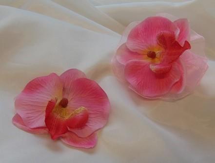 rózsaszín orchidea szett ( csuklódísz + kitűző) - esküvő dekoráció ... 51e936c83b