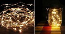 LED fényfüzér meleg fényű, 10 m (100 db led)- elemes