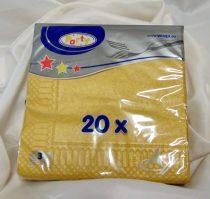 33*33 szalvéta, 3 rétegű (20 db/cs) fényes arany