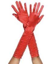 fényes, piros jersey kesztyű (38 cm)