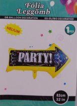 Party felirat fólia lufi (82 cm)