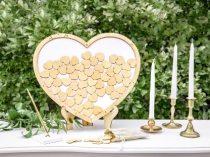 Fából készült esküvői vendégkönyv -( 44*37.5 cm) -KG2