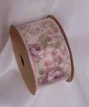 vintage rózsás szalag (4 cm x 5 m) - BH-4-03