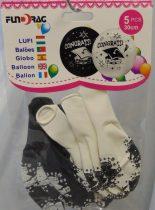 ballagási gumi lufi, kalapos ( 5 db)-602218
