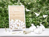 Fából készült esküvői vendégkönyv -( 27,5 * 39,5 cm) -KG3