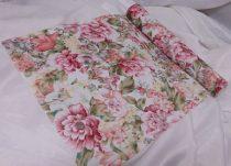 dekorselyem asztali futó , vintage rózsás- (28 cm * 5 m)-jk11