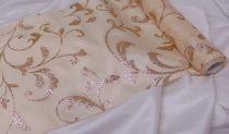 dekorselyem asztali futó glitteres, krém-rosegold (25 cm * 5 m)-076
