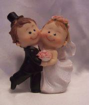 Táncos, esküvői tortadísz (8 cm)-35112B